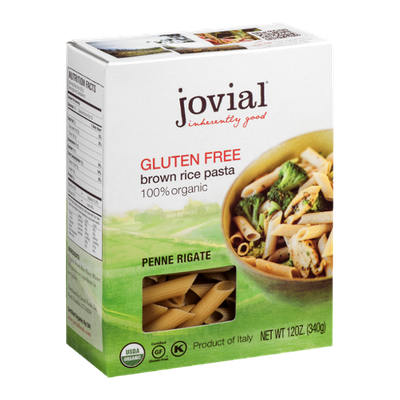 Jovial Gluten Free Brown Rice Pasta Penne Rigate