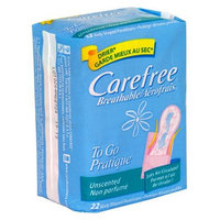 Carefree To Go Body Shaped Breathable Pantiliners, Unscented 22 pantiliners