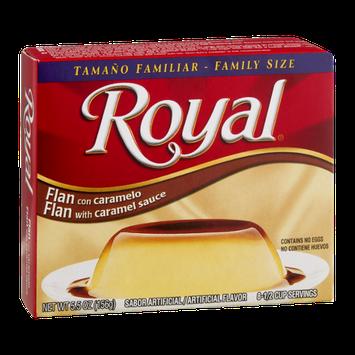Royal Flan with Caramel Sauce