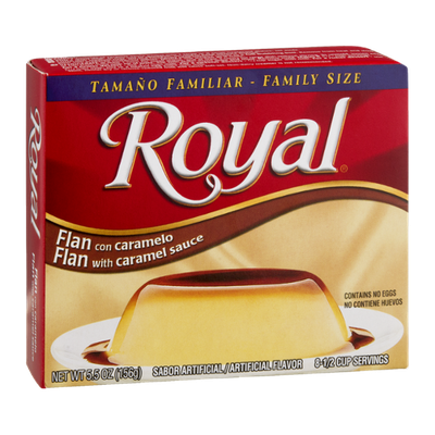 Royal Flan with Caramel Sauce