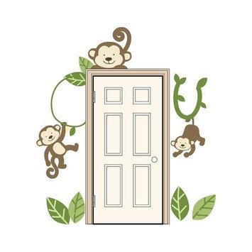 Kids Line Babies R Us By Design Monkey Door Wall Decals