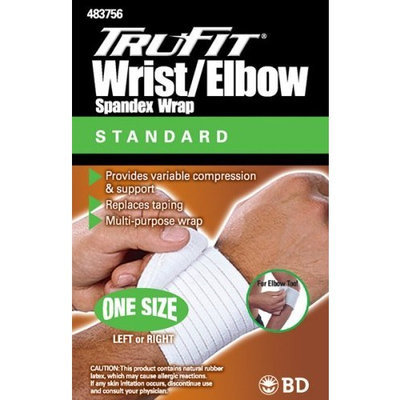 Trufit Tru-fit Spandex Wrist/Tennis Elbow Wrap, White, One Size Fits All, (Pack of 4)