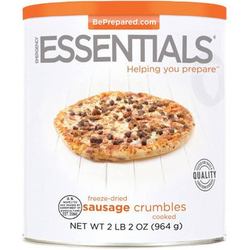 Emergency Essentials Freeze-Dried Sausage Crumbles, 34 oz