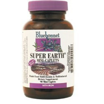 Bluebonnet Super Earth Multi-Nutrient Formula Iron Mini Caplets, 90 Count