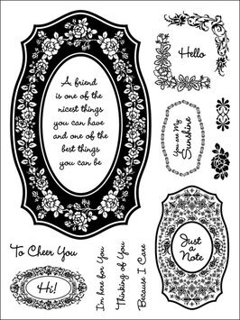 Addnice Stamping Scrapping Spellbinders Matching Clear Stamps, Floral Friendship