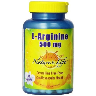Nature's Life L-Arginine Capsules, 500 Mg, 100 Count