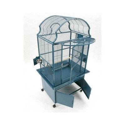 A&e Cage Medium Fan Top Bird Cage Color: Pure White