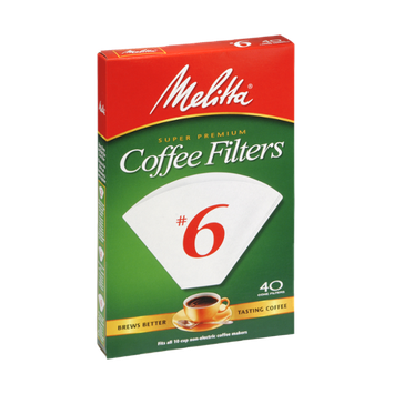 Melitta Super Premium Coffee Filters #6 - 40 CT