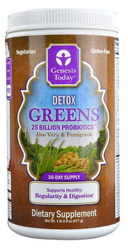 Detox Greens Genesis Today Inc 16.8 oz Canister