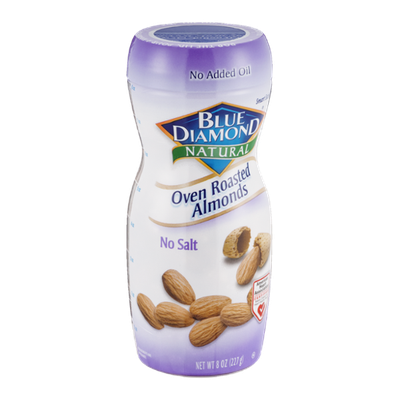 Blue Diamond Natural Oven Roasted Almonds No Salt