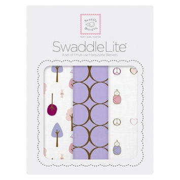 SwaddleDesigns Swaddle Designs Cute & Calm SwaddleLite 3pk - Lavender