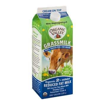Organic Valley Grassmilk 2% Reduced Fat Milk