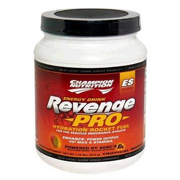 Champion Nutrition Revenge Pro Energy Drink, Tropical Mango, 28-Ounce Plastic Jar