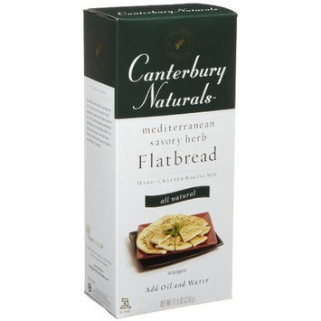 Canterbury Naturals Mediterranean Savory Herb Flatbread Hand-Crafted Baking Mix, 11.5-Ounce Boxes (Pack of 6)