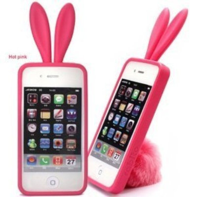 Apple 3D Silicone Bunny Rabito Rabbit Rubber Skin for iPhone 4S 4G