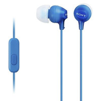 Sony Fashionable Headset for Smartphones - Blue (MDREX15AP/BLU)