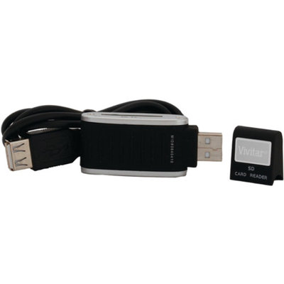 Vivitar VIV-RW-3000-BLK SDHC Card Reader Black