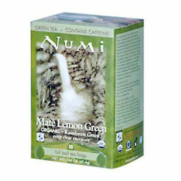 Numi Tea Numi Rainforest Green Tea Mate Lemon 18 Tea Bags Case of 6