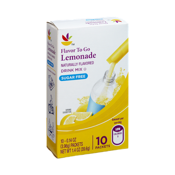 Ahold Flavor To Go Lemonade Sugar Free Drink Mix- 10 CT