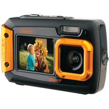 Coleman 2V9WP Duo2 Dual-Screen Waterproof 20MP Digital Camera, Orange