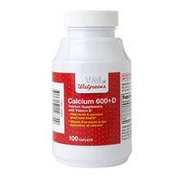 Walgreens Calcium 600mg + D Caplets, 100 ea
