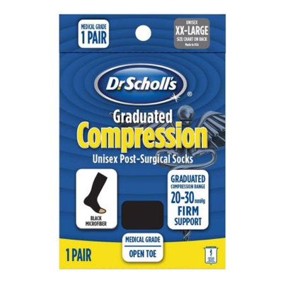 Dr. Scholl's Firm Graduated Compression Post-Surgical Open Toe Sock Small