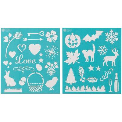Plaid:craft Martha Stewart Holiday Icons Medium Stencils (Pack of 2)