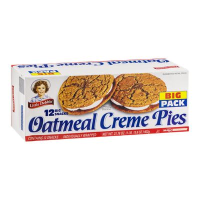 Little Debbie Oatmeal Creme Pies - 12 CT
