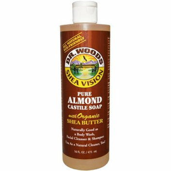 Dr. Woods Shea Vision Pure Almond Castile Soap with Organic Shea Butter 16 oz