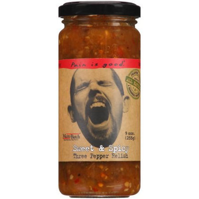 Original Juan Pain Is Good Sweet & Spicy Three Pepper Relish, 8.5 oz