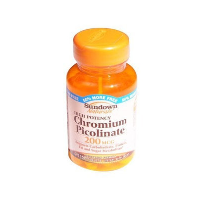 Sundown Naturals Chromium Picolinate, 200 mcg, 100 Tablets