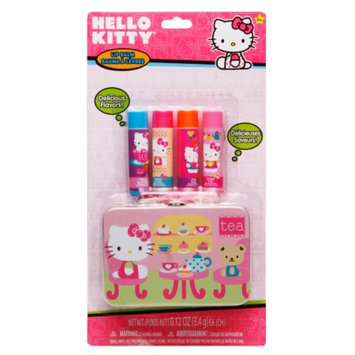 Hello Kitty Lip Balm Tin with 4 Flavors Assorted