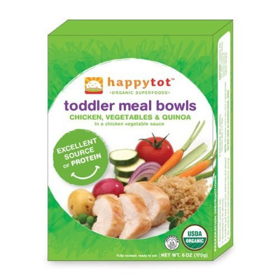 Happybaby Happy Tot Toddler Meal Bowls, Chicken, Vegetables and Quinoa, 6-Ounce Package
