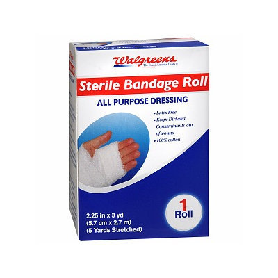 Walgreens Sterile Bandage Roll All Purpose Dressing