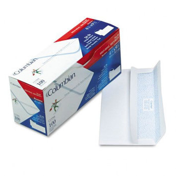 Columbian White Woven Self-Seal Business Envelopes