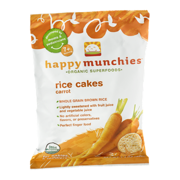 Happy Munchies Organic Superfoods Carrot Rice Cakes