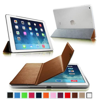 Fintie Ultra Slim Lightweight Case with Semi Transparent Hard Shell Cover for Apple iPad Air (5th Gen), Brown/Frost