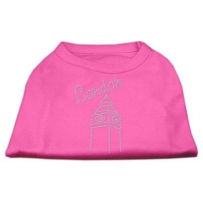 Mirage Pet Products 5243 XXLBPK London Rhinestone Shirts Bright Pink XXL 18