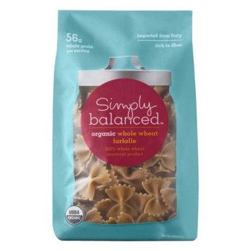 Simply Balanced Organic Whole Wheat Farfalle Pasta 16 oz
