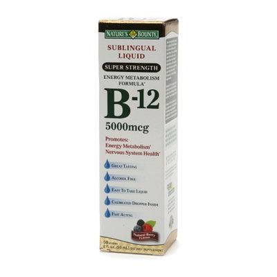 Nature's Bounty B-12 Sublingual Liquid 5000 mcg