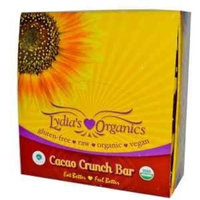 Lydia's Organics Bars Cacao Crunch -- 12 Bars