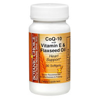 Botanic Choice CoQ-10 with Vitamin E & Flaxseed Oil Softgels