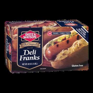 Dietz & Watson Deli Franks Family Pack Gluten Free - 24 CT