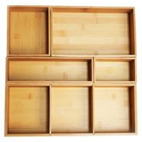Seville 5 Piece Bamboo Organizer Boxes - Natural (Assorted Sizes)