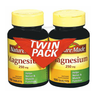 Nature Made Magnesium Twin Pack 200Ct  Magnesium Twin Pack Tablets 100 Ct Dietary Supplement 2