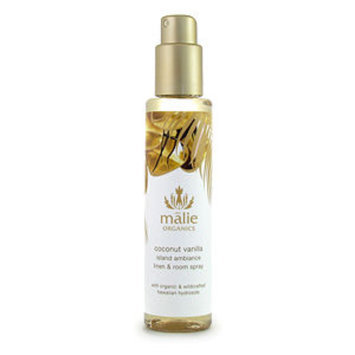Malie Organics Organic Island Ambiance Linen and Room Spray, Coconut Vanilla, 5 oz