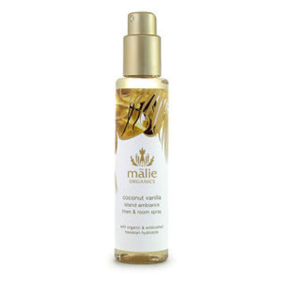 Malie Organics Organic Island Ambiance Linen and Room Spray, Coconut Vanilla, 5 oz