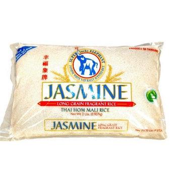 Super Lucky Elephant Thai Jasmine Rice, 2-Pounds (Pack of 4)
