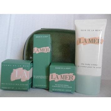 La Mer Skincare Travel Set 5 Pieces: The Moisturizing Cream .24 oz, The Eye Balm Intense.1 oz, The Regenerating Serum .17 oz, The Body Creme 1 oz + Pearl Travel Hard Case Pouch.