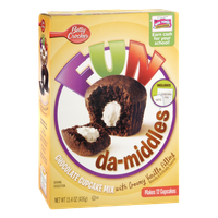 Betty Crocker Fun Da-Middles Chocolate Cupcake Mix with Vanilla Filling